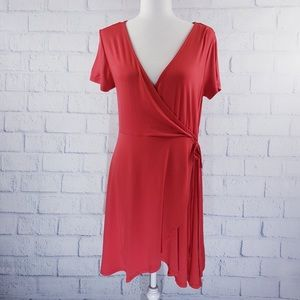 Forever 21 - coral wrap dress
